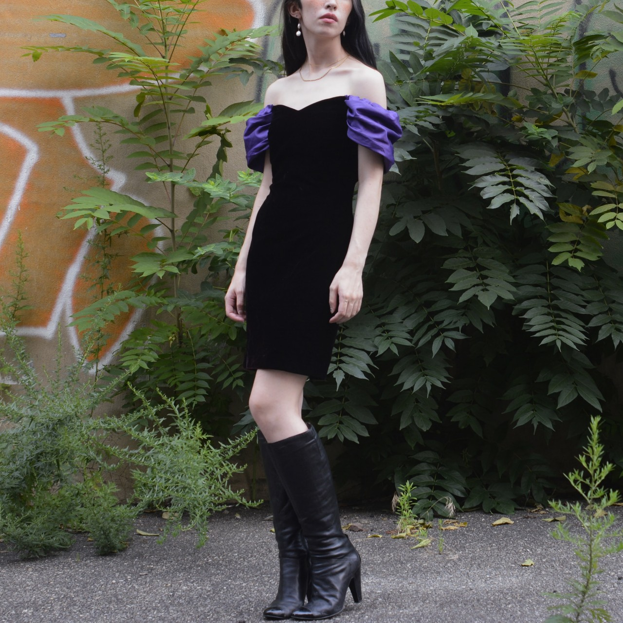 Product Image 1 - 1980s velvet party dress 💜🖤  This