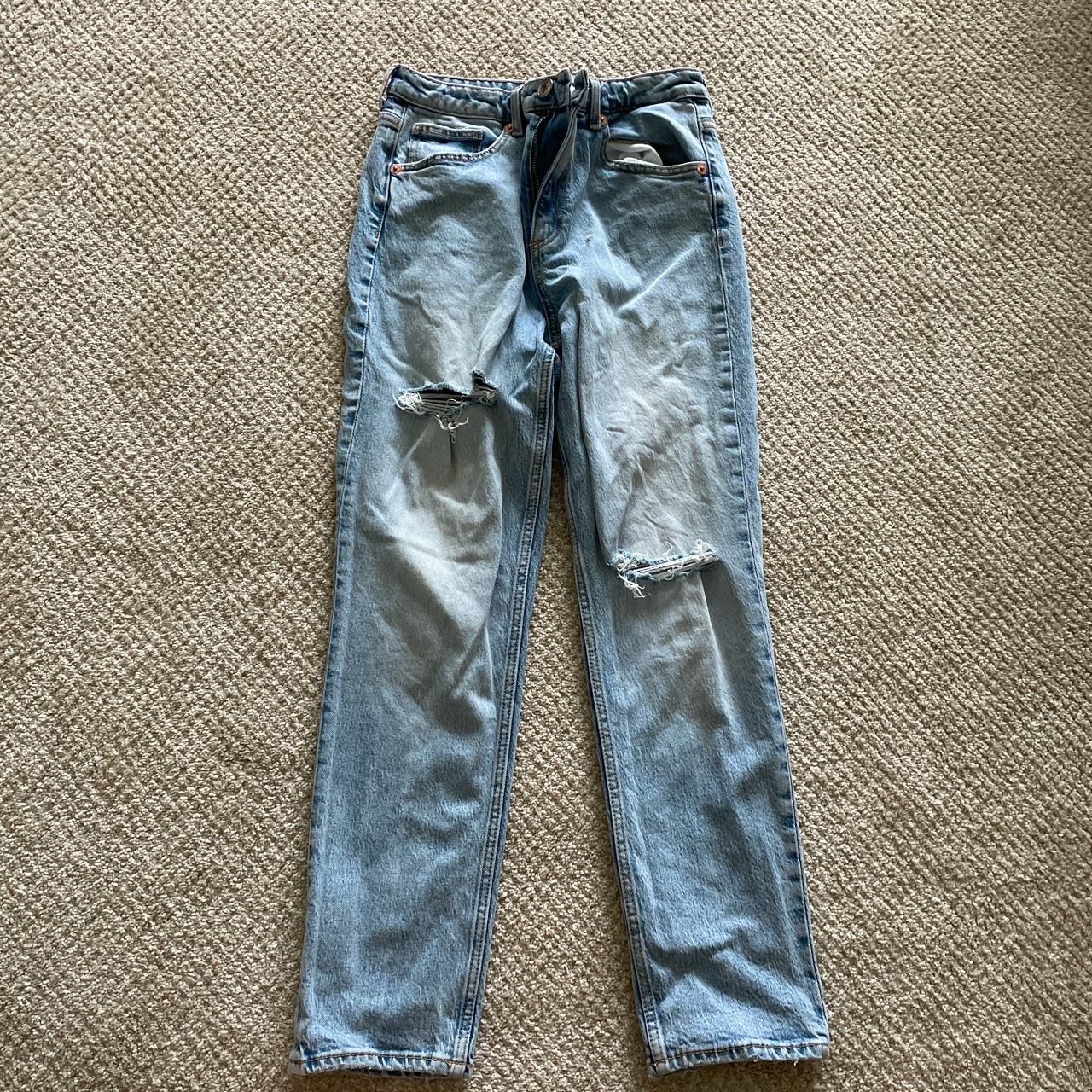 Product Image 1 - Slim Fit Hi-Rise Ripped Jeans Purchased