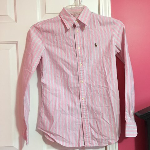 f9cfce33 @ajhail. 16 days ago. Louisville, United States. Polo Ralph Lauren Pink and  blue striped Oxford shirt