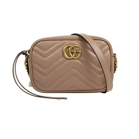 fea429d640d1 @expressvint. 2 days ago. Trabuco Canyon, United States. [NWT] Gucci Beige  Quilted Leather GG Marmont Matelassé Mini Shoulder Bag