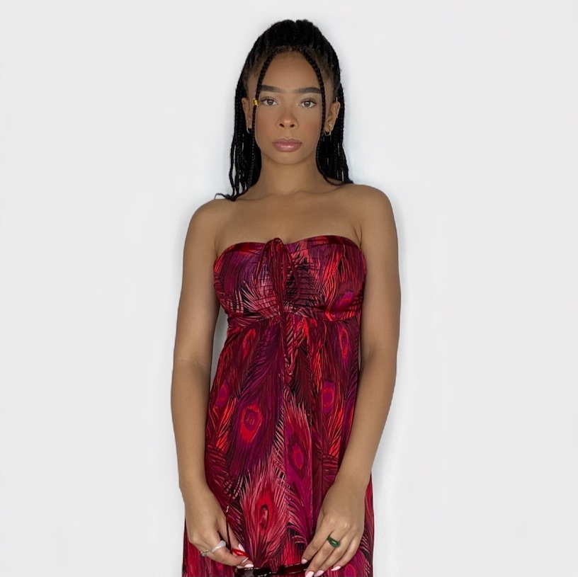 Product Image 1 - Strapless Maxi Peacock Dress {free