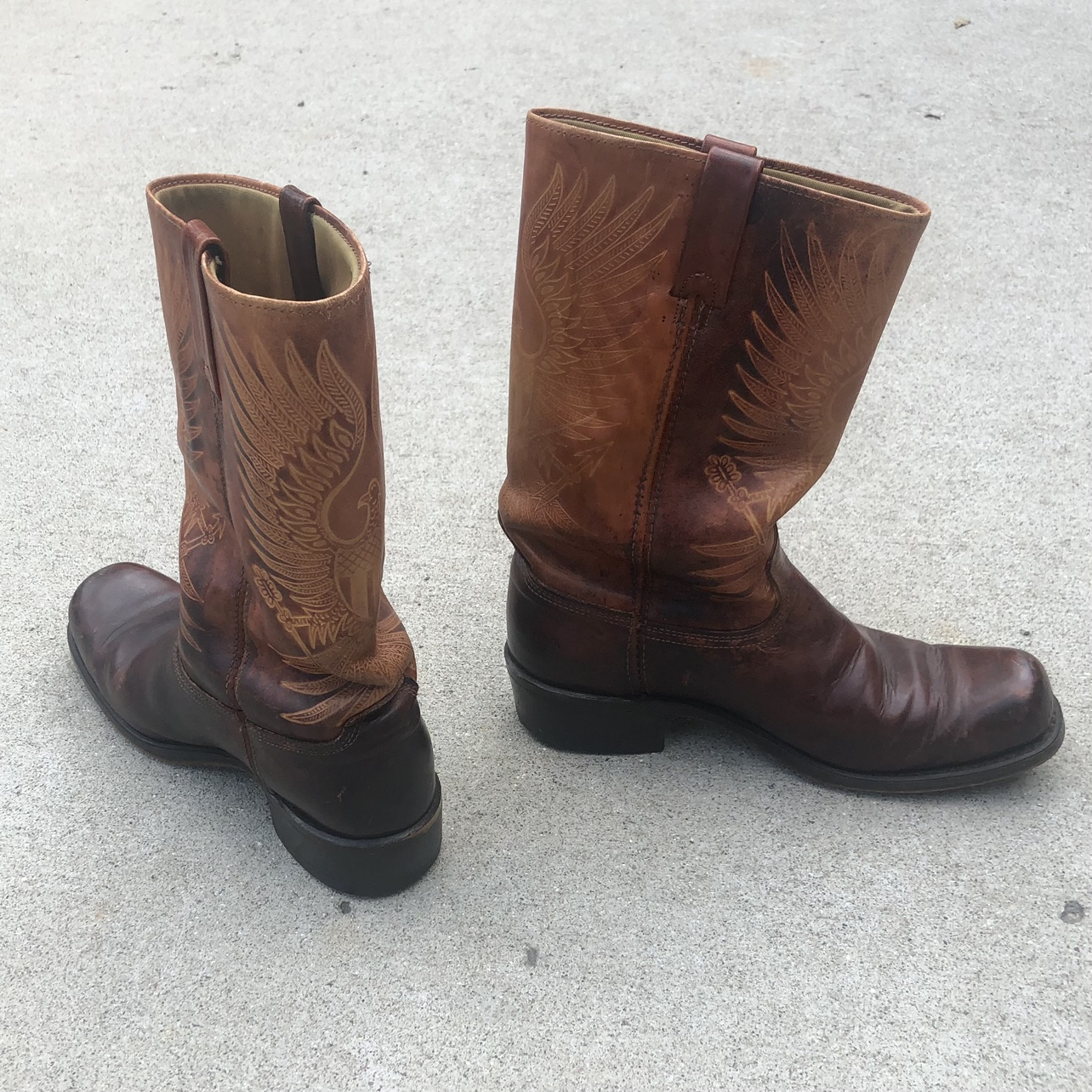 Product Image 1 - Brown Cowboy Boots  Two tone
