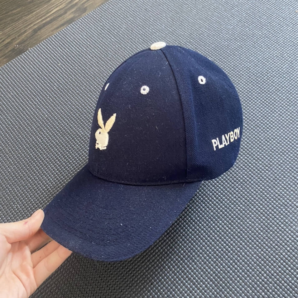 Product Image 1 - Navy and white Playboy trucker