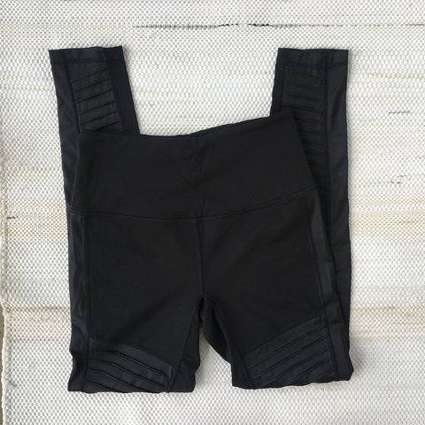 48a685e9f2b91 @liftedvintage. 7 days ago. United States. Victoria's Secret knockout black  Moto legging. Mid rise.