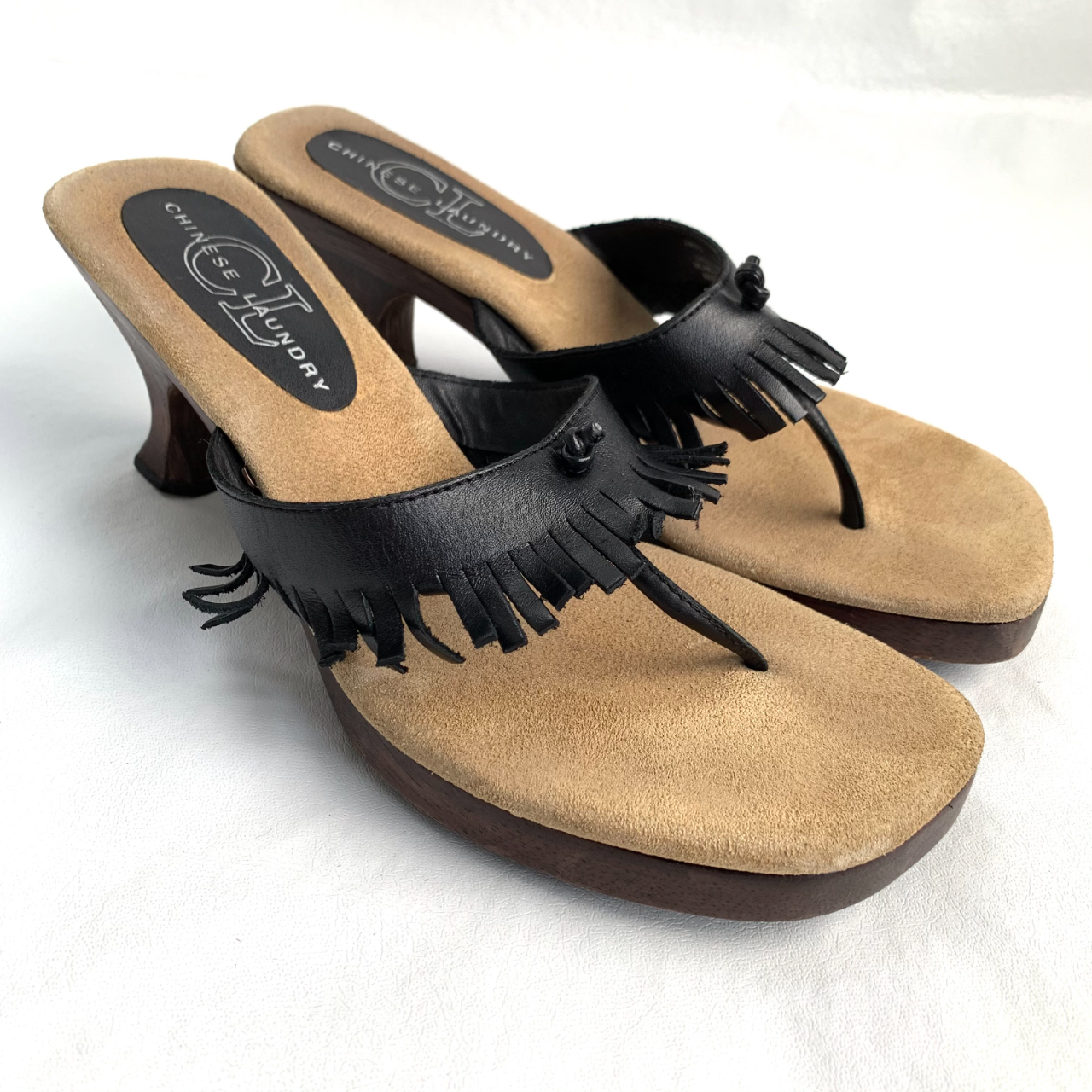 Product Image 1 - y2k wooden sandals, Chinese Laundry