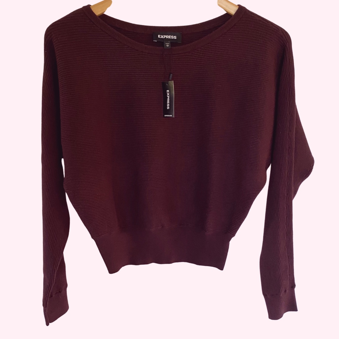 Product Image 1 - NWT Express - Burgundy Crop