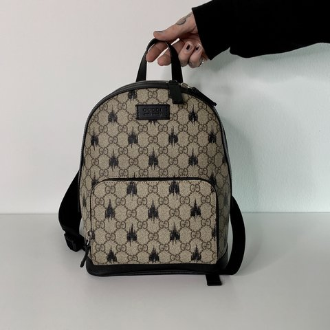76d89e69c @lilcastle. in 12 hours. Los Angeles, United States. CASTLE GG SUPREME MINI  BACKPACK AUTHENTIC GUCCI