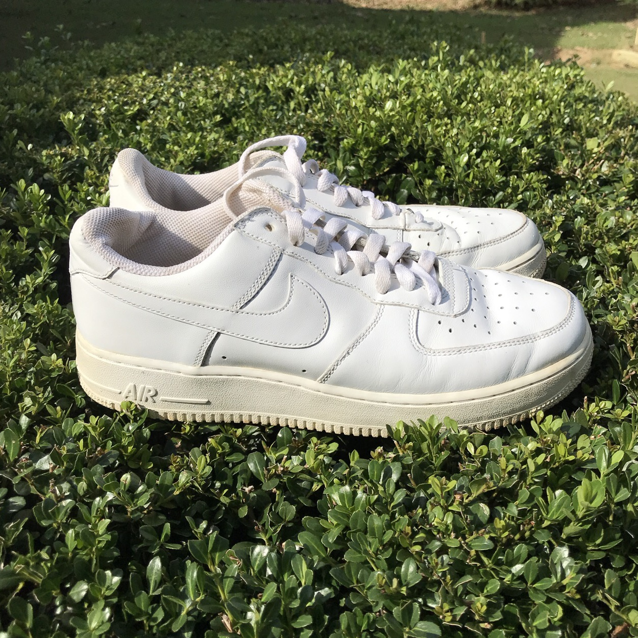 Nike Air Force Ones One has the metal plate for... - Depop