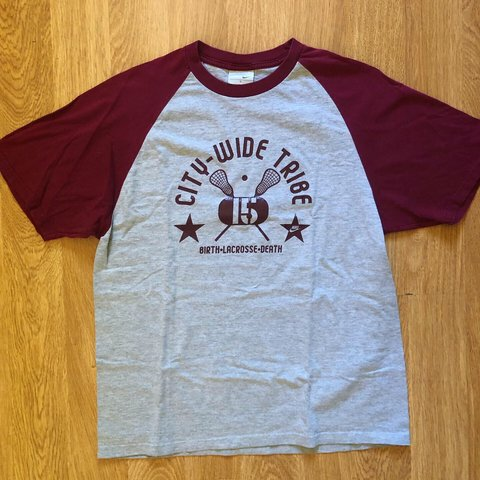 5eb4a9ce Vintage Nike lacrosse tee. Awesome gray/burgundy color combo - Depop