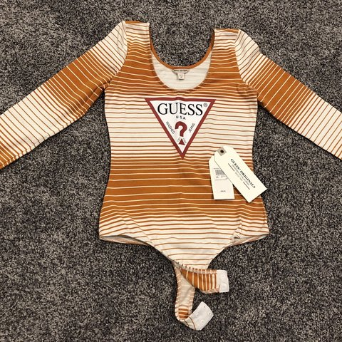 4674cd8514f683 @nicole_komic. 26 days ago. Almont, United States. GUESS Originals Striped  Bodysuit