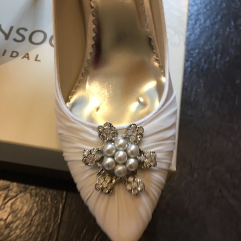 543f61f19 @clairedoohan. last month. Aberdeen, United Kingdom. Monsoon bridal shoes. Size  6 1/2. In immaculate condition