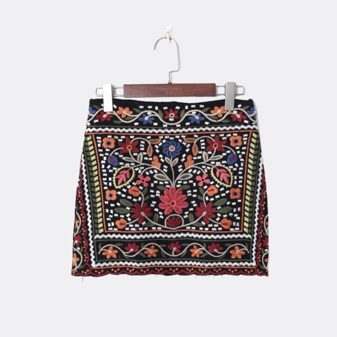 Product Image 1 - Vintage mini skirt with intricate