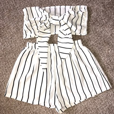 159f6629a7bb Brand new no tags 2 piece set. Comfortable shorts with tie - Depop
