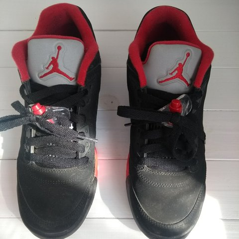 647529ee1fe @cuwh. 12 days ago. London, GB. Nike Air Jordan 5 Low black and red. Worn a few  times - in very ...