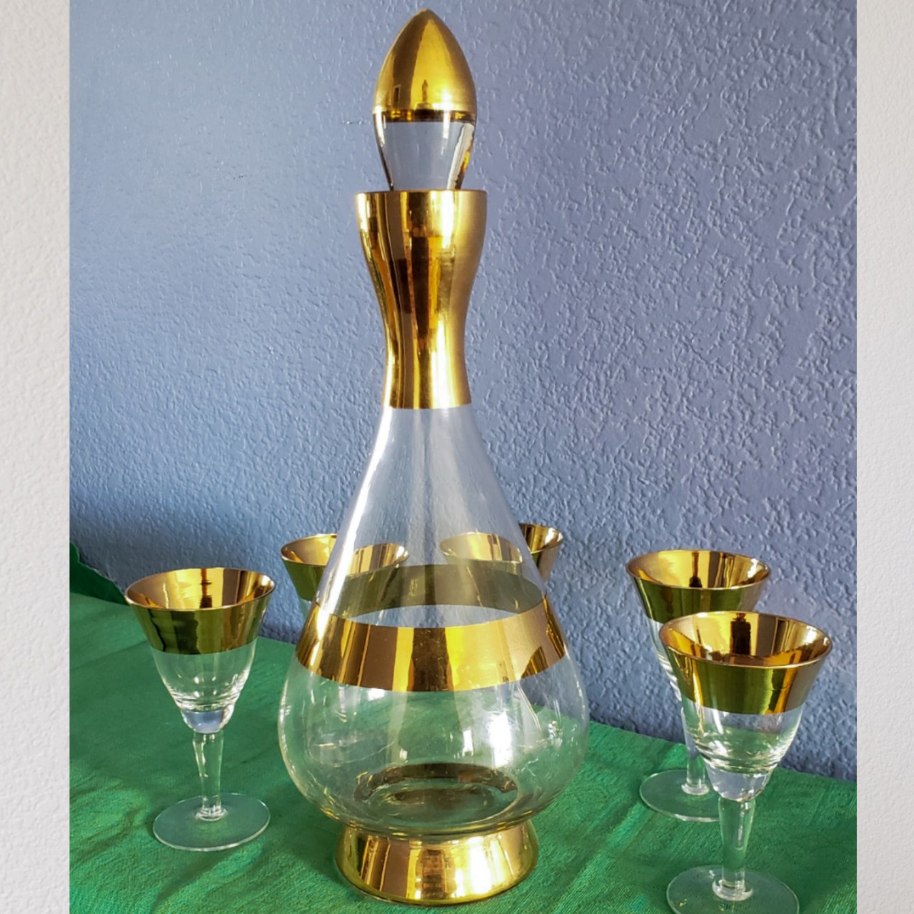 Product Image 1 - Midcentury Decanter and Glasses  Beautiful set