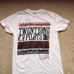 05e057b5f Twenty One Pilots Graphic Tee Unisex medium graphic lightly - Depop