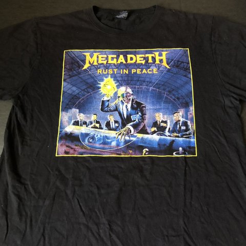 0ca86ed7483b Vintage Megadeth Rust In Peace shirt Sz XL Dave mustaine - Depop