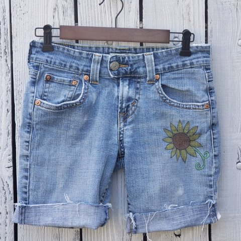 9281ab58 @funandfreshfinds. in 2 hours. Simi Valley, United States. Authentic  Vintage Levi's jeans cut into distressed shorts ...