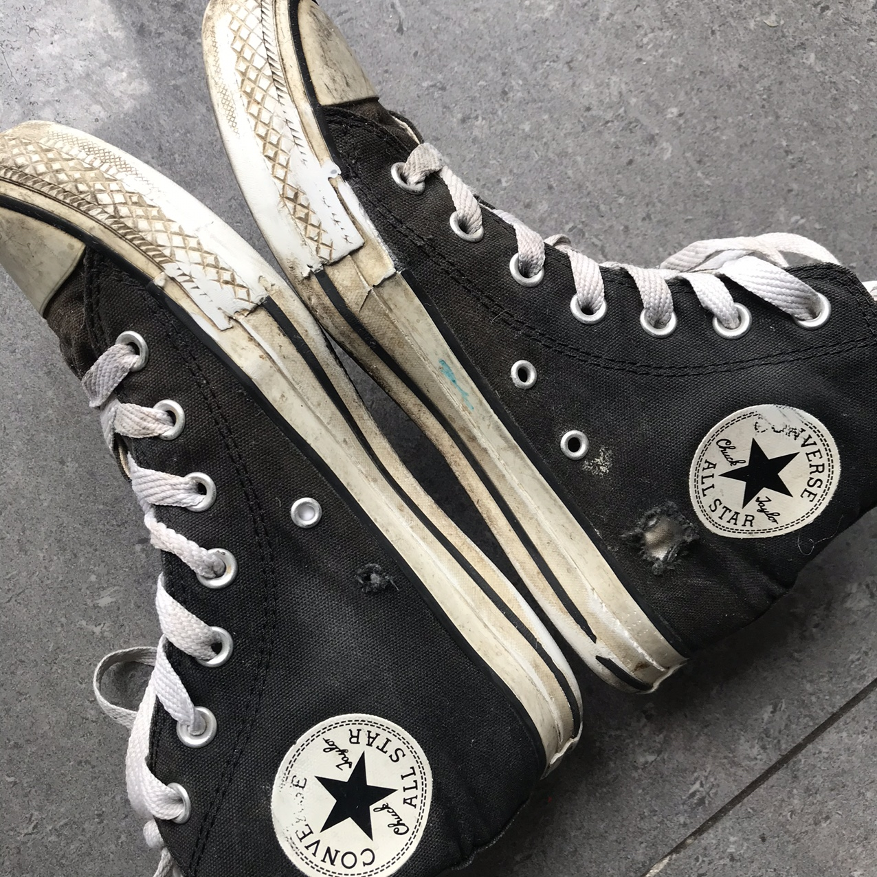 PUNK CONVERSE ALL STAR REVERSIBLE BLACK/WHITE and... - Depop