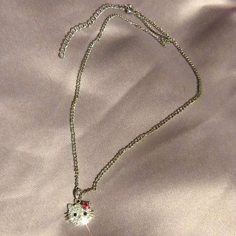 1ea86cb3d @calyxclothing. 1 hour ago. Weehawken, United States. Sparkly Hello kitty  necklace
