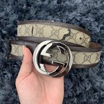 c30b6cee3 brand new gucci belt / white and gold!! To big for me used - Depop
