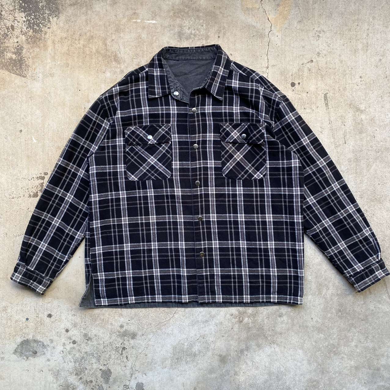 Product Image 1 - reversible flannel lined jacket size XL chest: