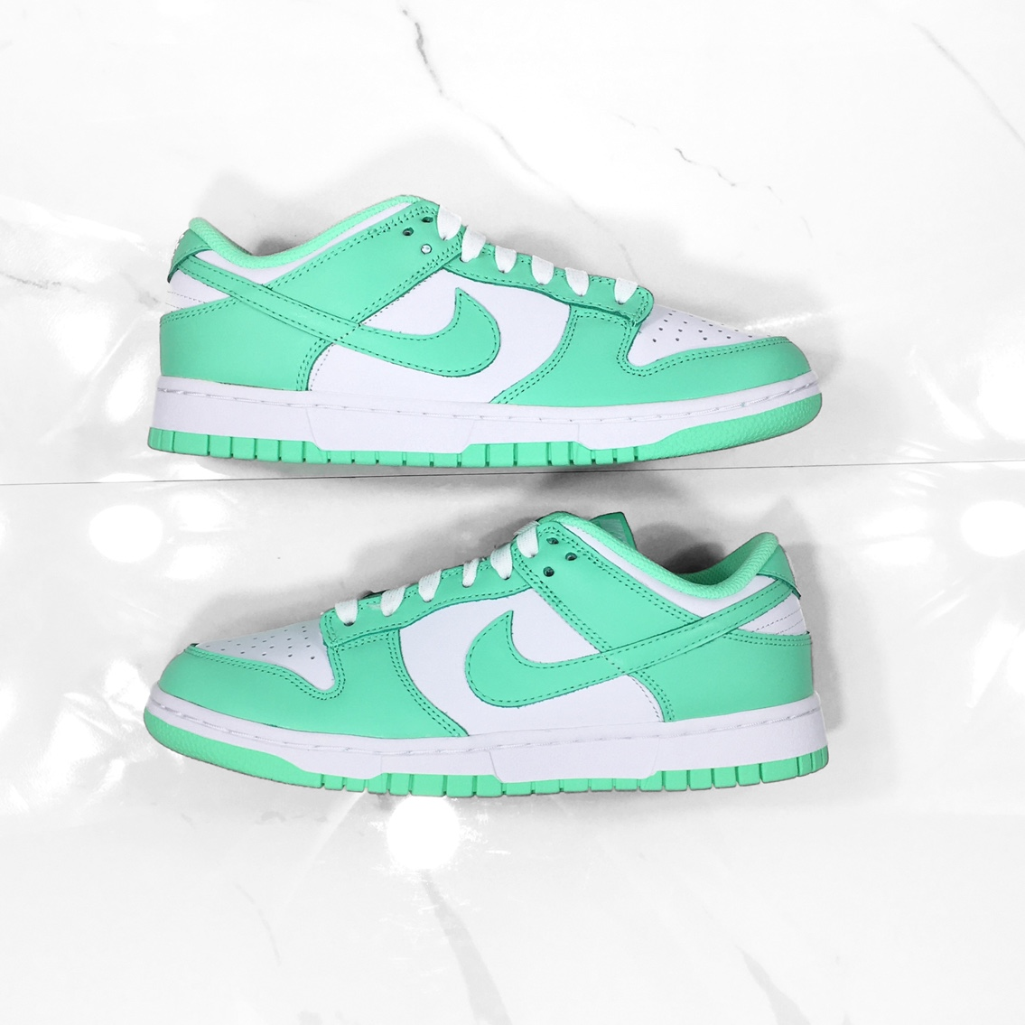 Product Image 1 - Nike Dunk Low Green Glow Size:
