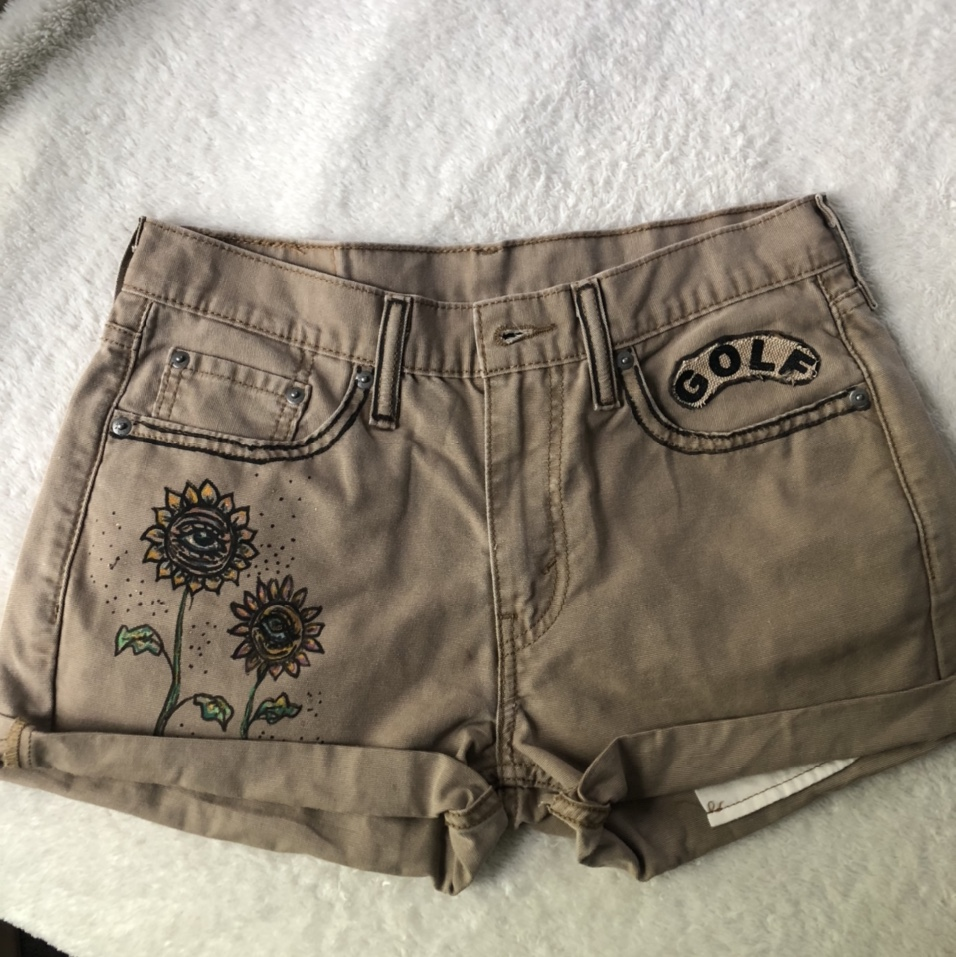 Product Image 1 - 🌸hand painted shorts🌸 golf le fleur