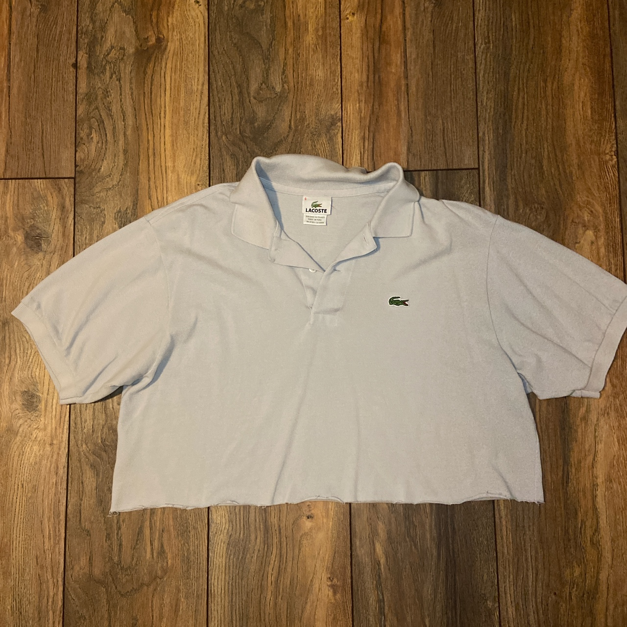 Product Image 1 - Light gray Lacoste Y2k cropped