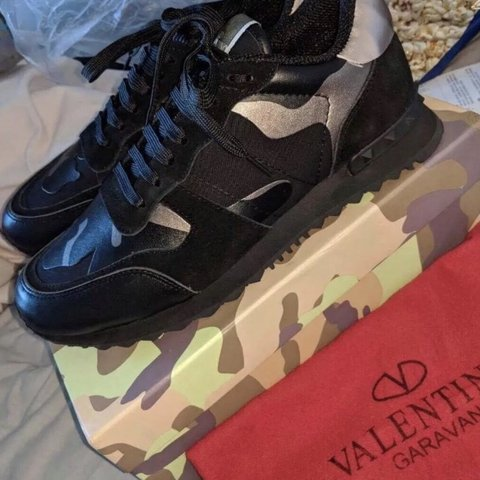 8bd08cac9116a @stockportdesignershop. last month. Manchester, United Kingdom. Black Camo  Valentino Trainers for Men Brand Spanking New ...