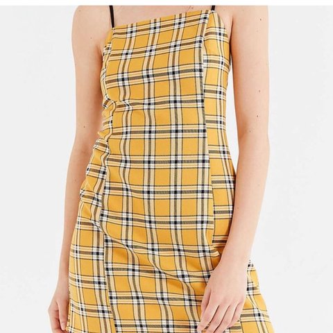 cfd2b63d9e77 urban outfitters yellow plaid dress! reminds me of super no - Depop