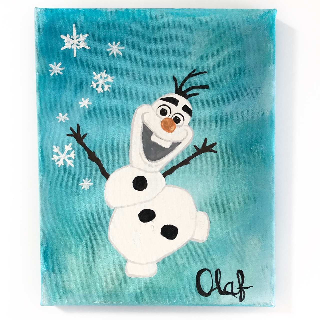 Product Image 1 - Frozen Olaf Painting • 8x10 • Canvas •
