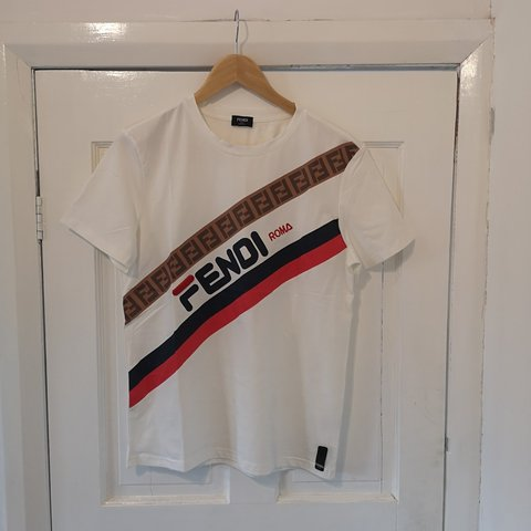 311d047d @lberry95. yesterday. United Kingdom, GB. Fendi Mania white T-shirt size ...