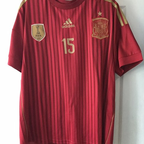 be9ff4113 @thriftsource. 16 days ago. Fishers, United States. Spain 2014 World Cup  soccer jersey Ramos 15 adidas