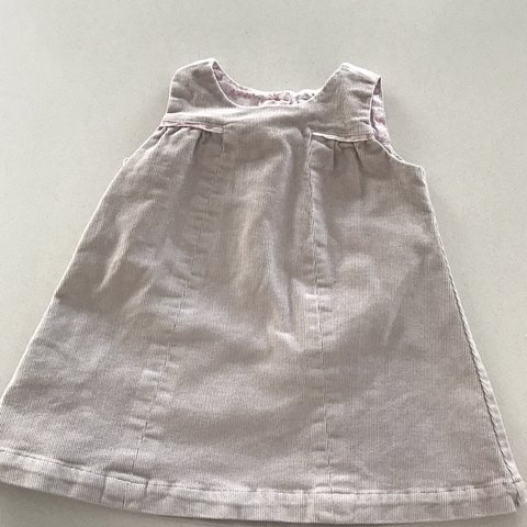 da5425f5e @loumcm1225. last month. Glasgow, United Kingdom. THE LITTLE WHITE COMPANY  Baby girl's grey and pink pinafore dress ...