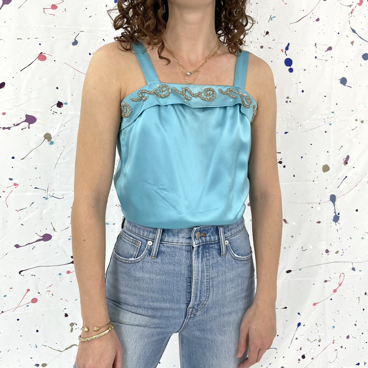 Product Image 1 - Vintage beaded tank top in