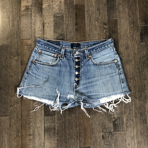 cc9a6bed74 @vintagejeanqueen. 10 days ago. Loveland, United States. Vintage Levi's 501 custom  cut off jean shorts!