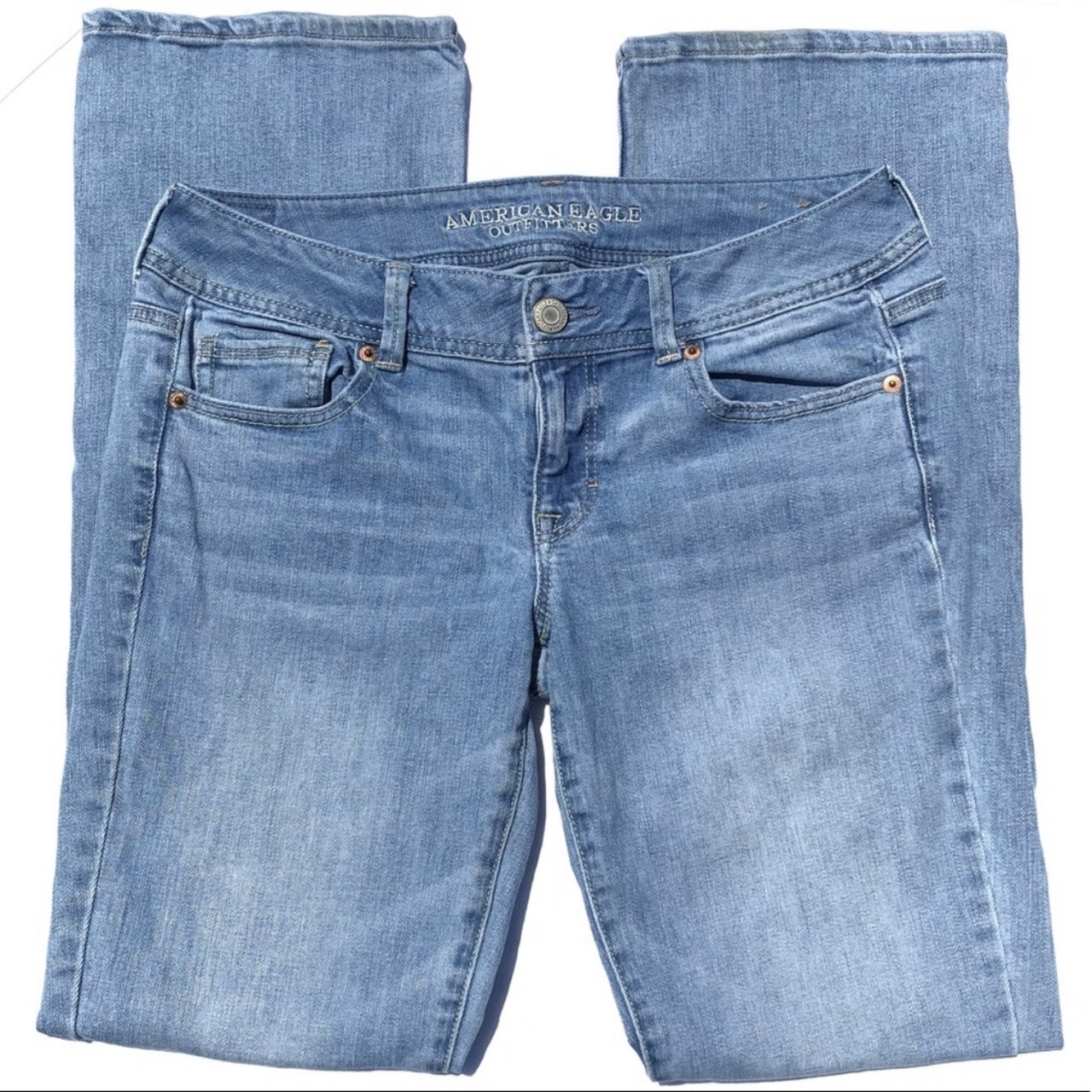 c68070ac828 @sahm_selling. last month. Robertsdale, United States. American Eagle  Outfitters Light Wash Bootcut Denim Jeans ...