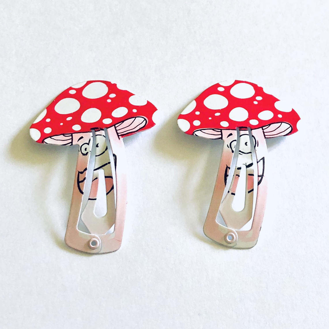Product Image 1 - Happy face mushroom hair clips,