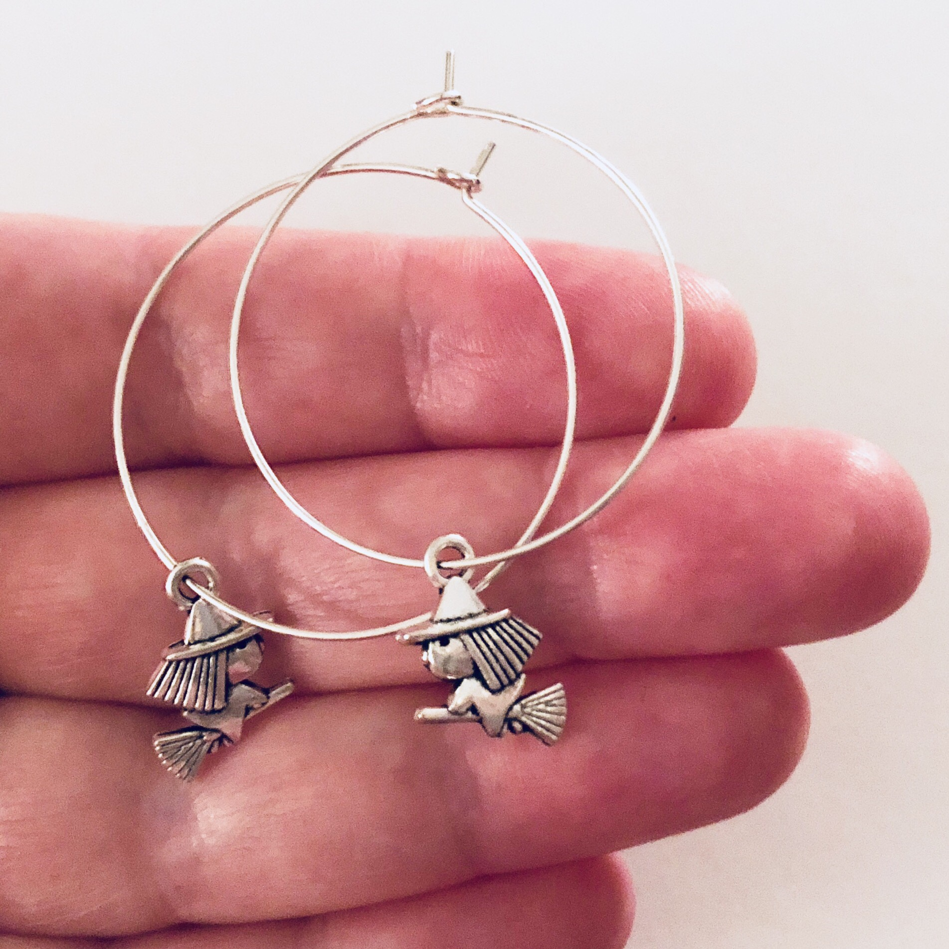 Product Image 1 - Witch earrings. Little witch silver