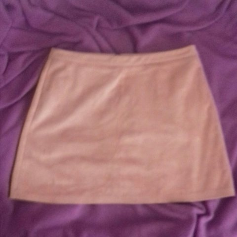 f6dcc243a8 @geodanielle. 20 days ago. East Riding of Yorkshire, United Kingdom. Faux  suede light pink/peach skirt from Primark.