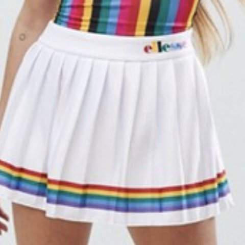 fffbaafc3d @etherealbaby. 20 days ago. Maidstone, United Kingdom. Ellesse rainbow  pleated tennis style skirt white. Sold out ...