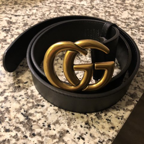 f4ed442f0 @cleopatra2525. 2 days ago. Richmond, United States. Gucci Leather Belt  with Double G Buckle