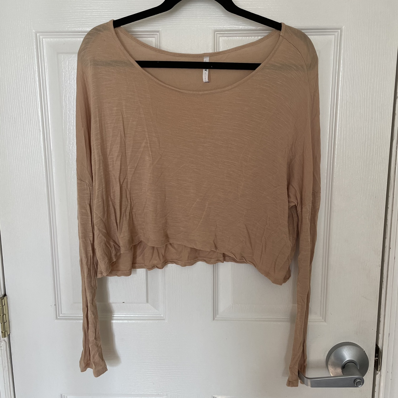 Product Image 1 - TAN LIGHT CROPPED LONG SLEEVE