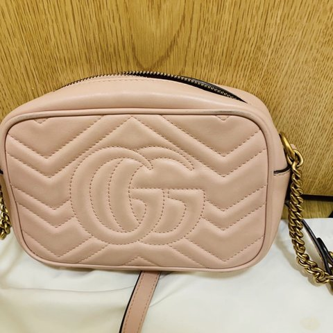 a31681a4f352 @chlochlosimmons. yesterday. Leicester, United Kingdom. Pink Gucci GG  Marmont Bag.