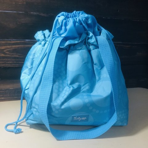 2601ab3320d NWOT Thirty-One Cinch-It-Up Thermal Lunch Bag Tote in Aqua - - Depop