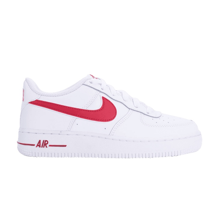 low priced d7aa5 26a19 air force one red   white color way, women s size 6.5, no - Depop