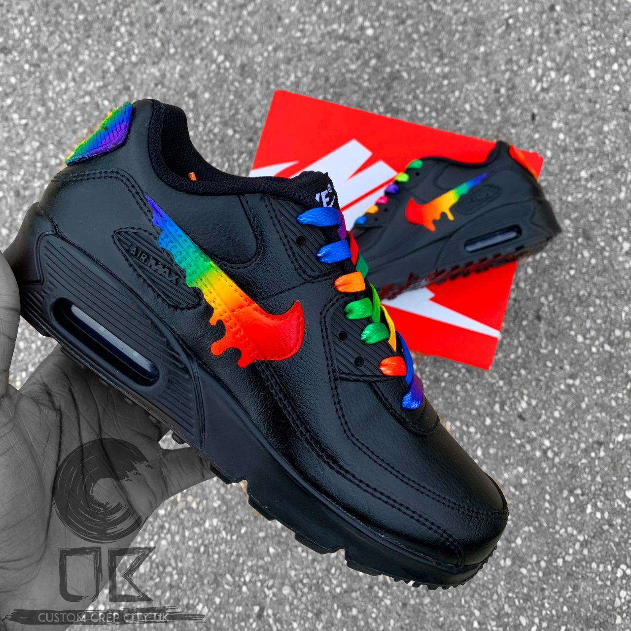 ALL SIZES AVAILABLE Custom Nike Air Max 90,... - Depop