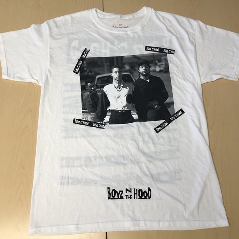 c15b35808 @flygirljess. yesterday. Los Angeles, United States. Boyz N The Hood  Graphic Tee. Graphics on front and back.