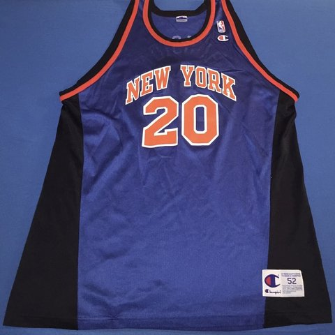 21d921a0 @joes_vintage_and_more. 27 days ago. Riverside, United States. Vintage 90s  Champion NBA New York Knicks Allen Houston Adult Jersey ...